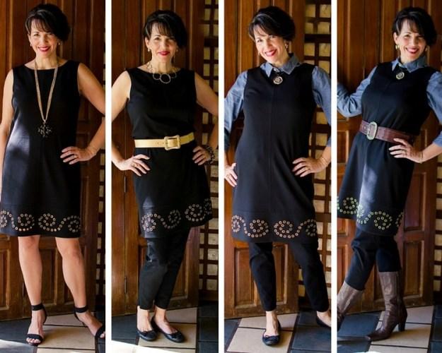 4 ways to wear a little black dress
