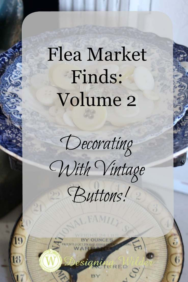 decorating with vintage buttons