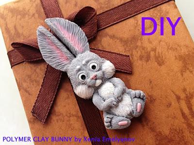 diy clay bunny