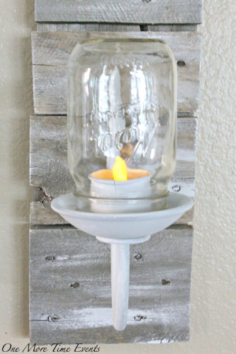 diy farmhouse style sconce