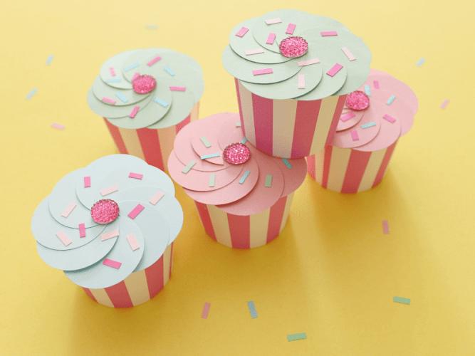 diy paper cupcakes