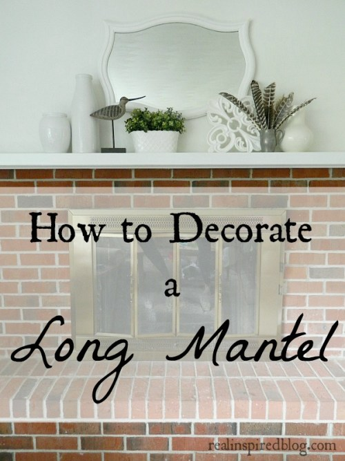 how to decorate a long mantle