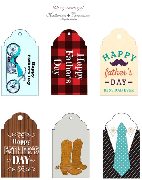 fathers day gift tag printables katherines corner