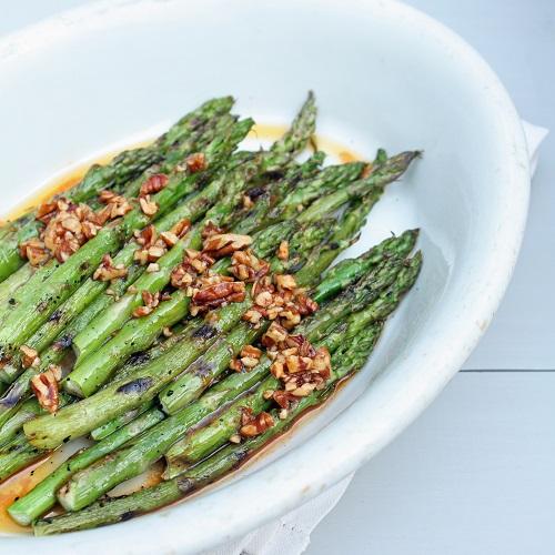 grilled sir ache asparagus