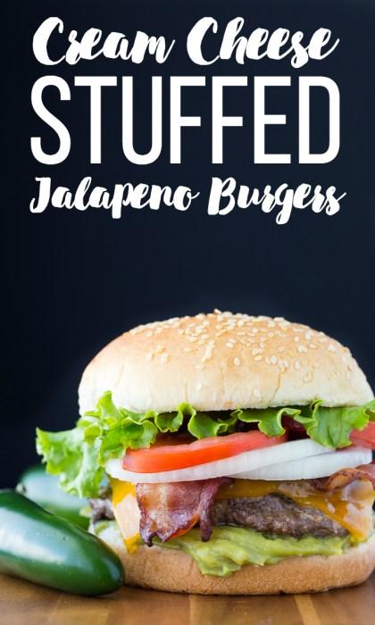 jalapeno cream cheese stuffed burgers