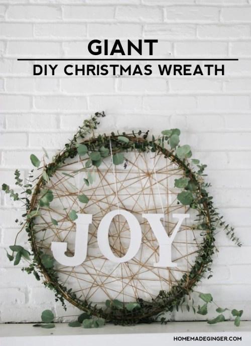 embroidery hoop diy wreath