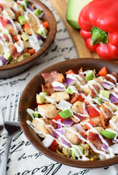 bacon ranch quinoa bowl