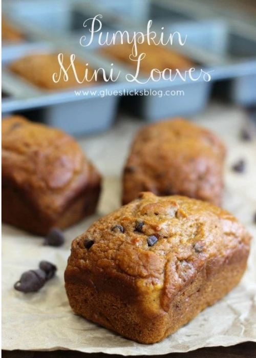 pumpkin chocolate chip mini loaves
