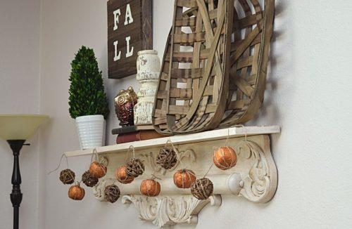 diy pumpkin garland