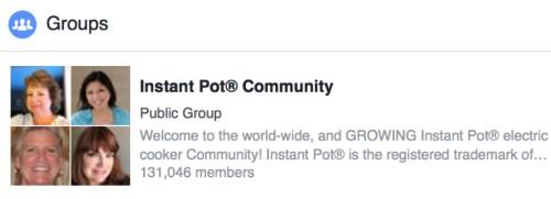 instapot facebook