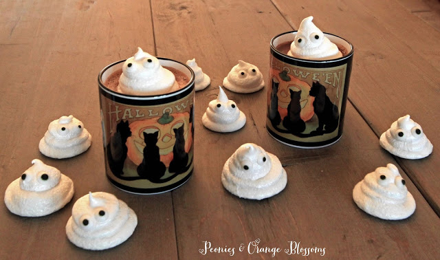 how to make meringue ghost cookies