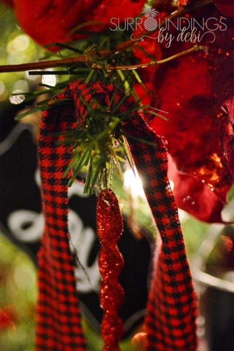 fabric Christmas tree tassels