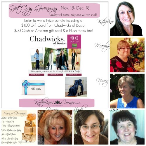 get cozy giveaway hostesses