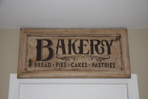 vintage inspired bakery sign