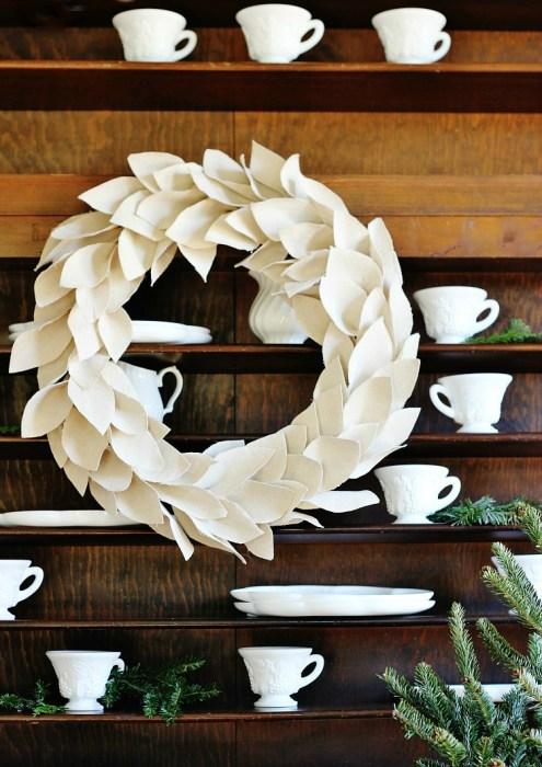 winter white diy wreath