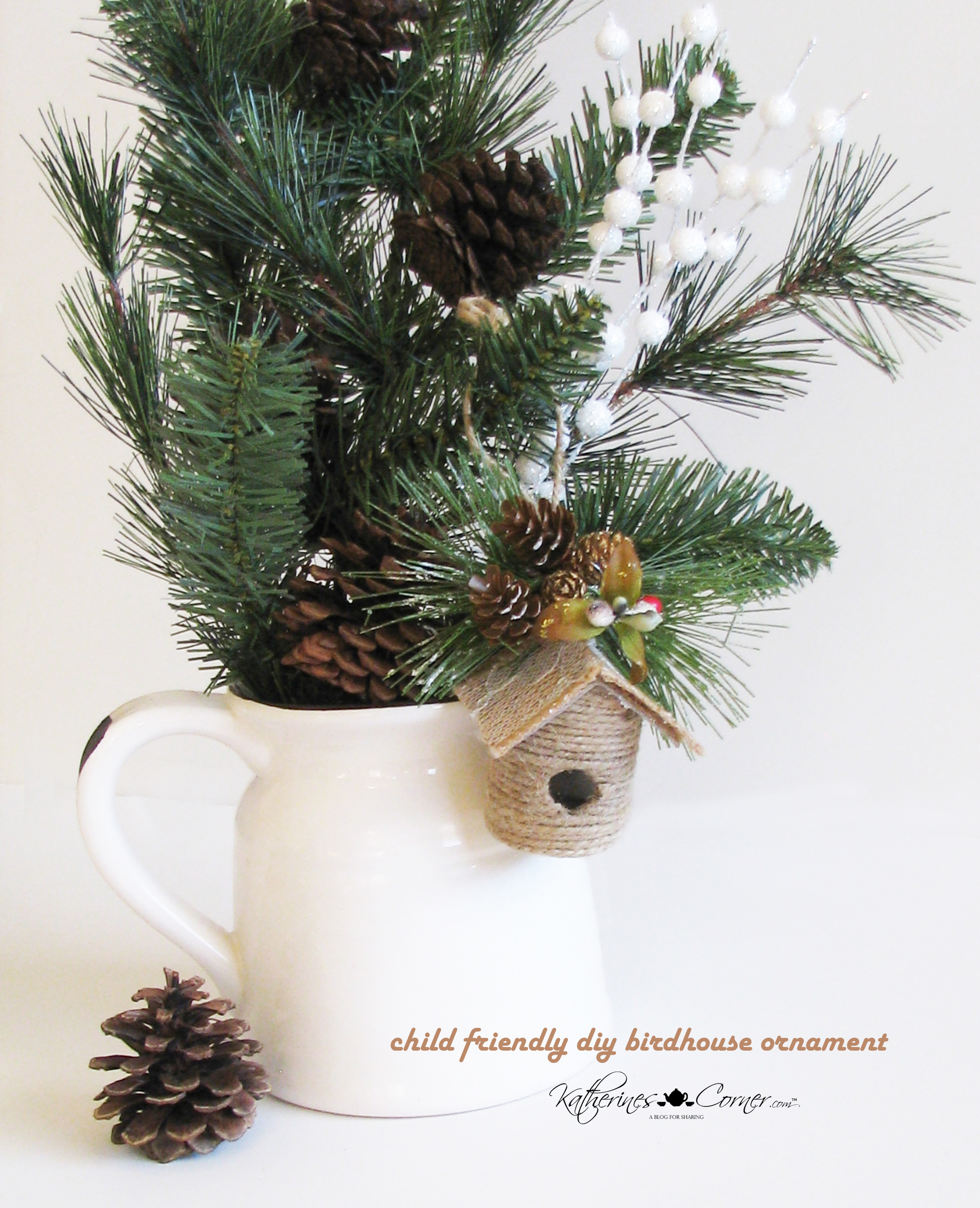 diy birdhouse ornament