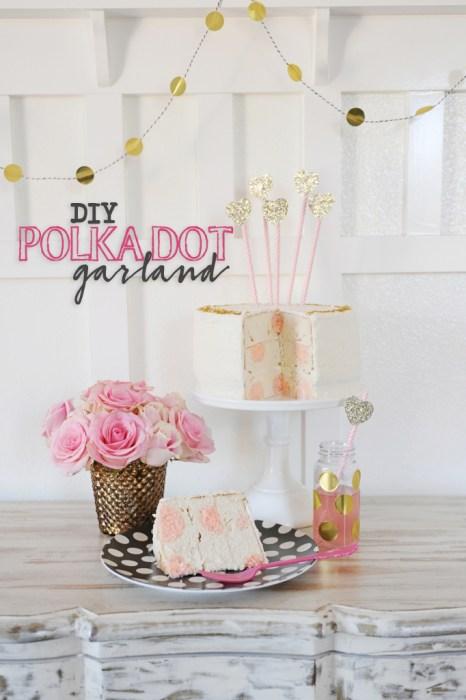 easy diy polka dot garland