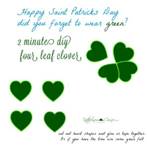 easy and quick four leaf clover diy