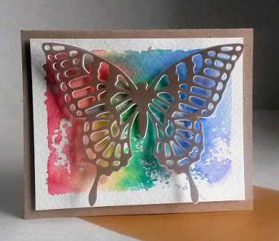 handmade butterfly greeting card