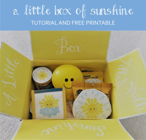 diy box of sunshine