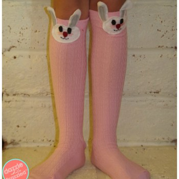 diy bunny socks