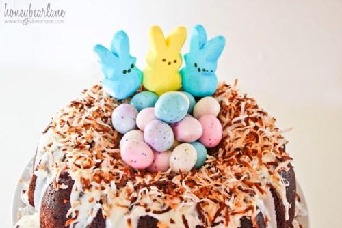 easter chocolate bundt cake