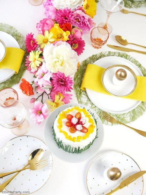 easter spring brunch tablescape