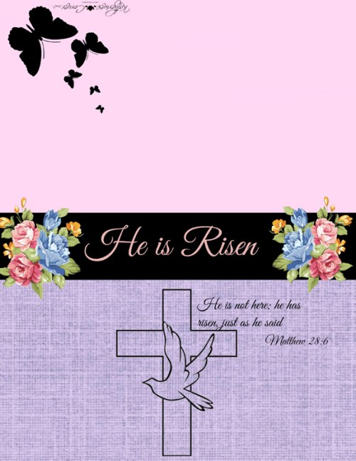 Easter printable greeting card
