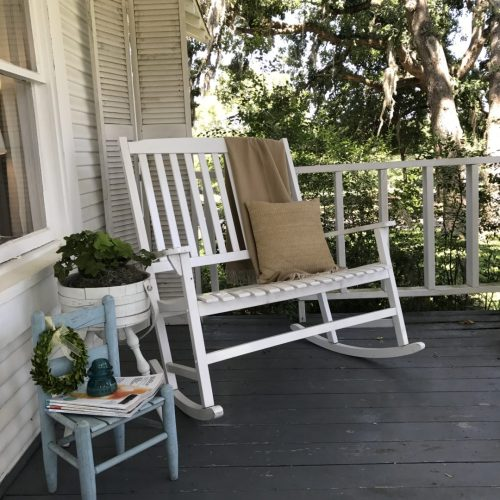 front porch spring deco