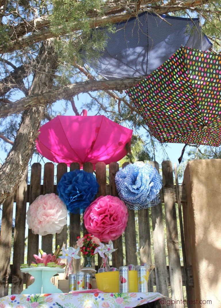 spring floral party decor