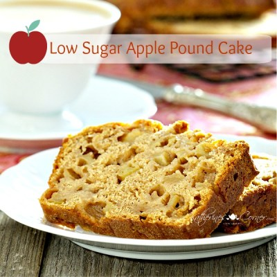 low sugar apple pound cake