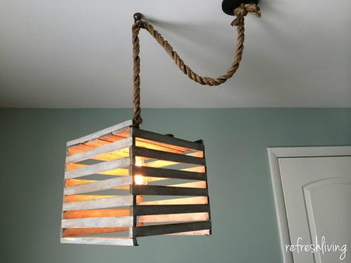 diy egg crate pendant light