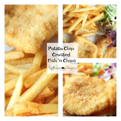 thats crumbypotato chip crusted fish and chips