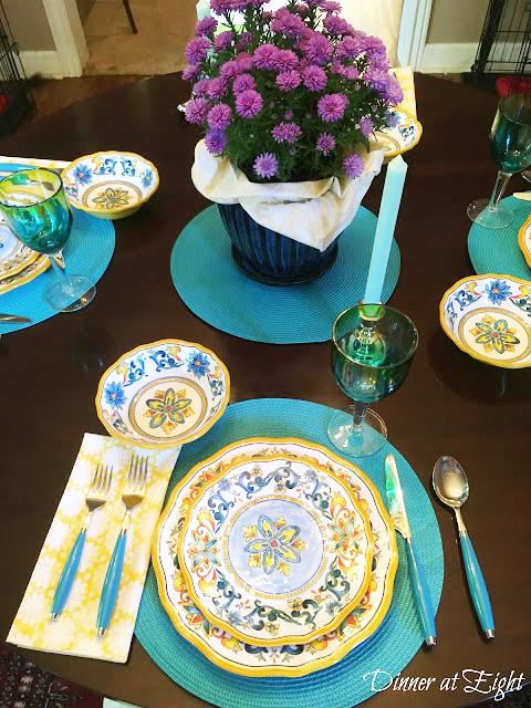 italian style transitions tablescape