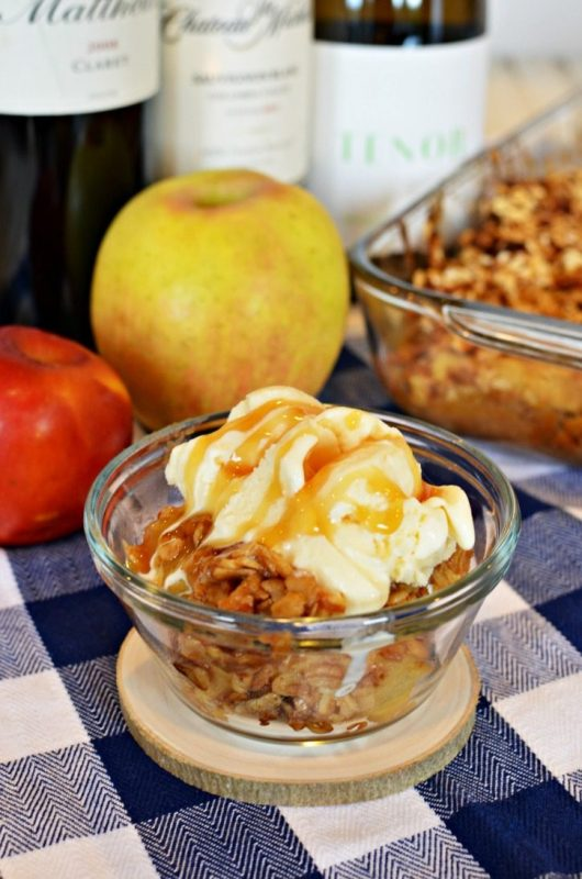 Washington apple crisp dessert