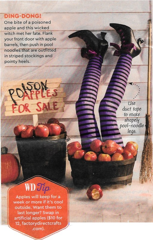 DIY pool noodle witch legs