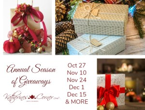The Season of Giveaways Starts 10-27