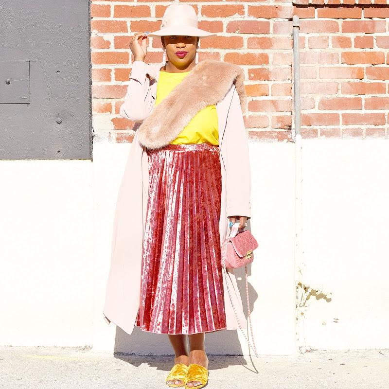 pretty velvet skirt