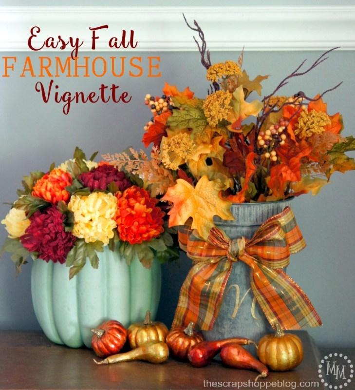 easy farmhouse fall vignette