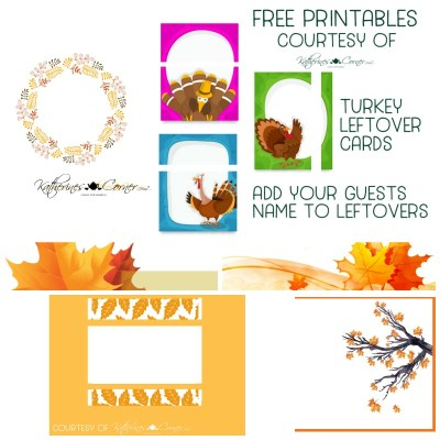 thanksgiving printables for your guests leftovers