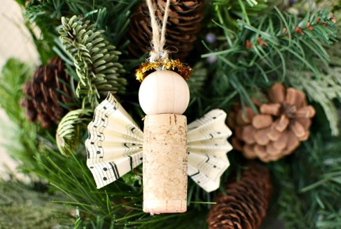 christmas craftiness cork angels