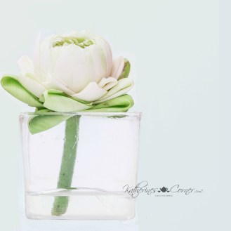 diy dollar store white lotus blossom