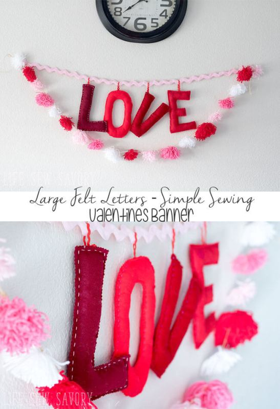 diy love letter banner