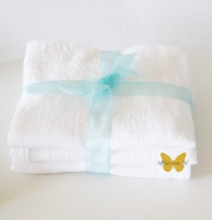 flour sack tea towels made by katherine
