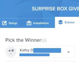 surprise box winner