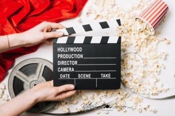 movie clapboard for cynthia post