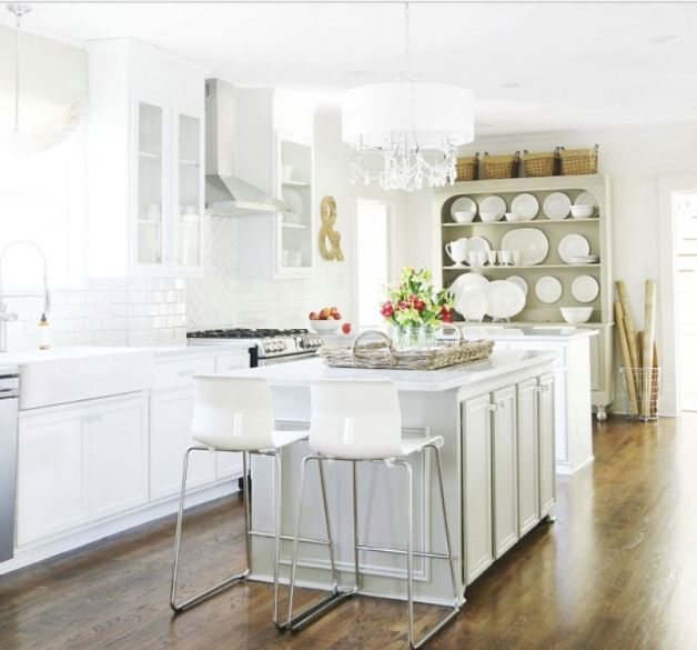 lovely open white kitchen