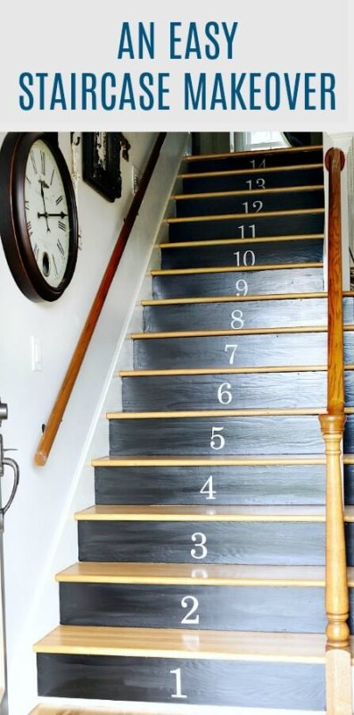 easy staircase makeover