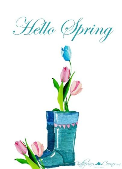 springtime free printable