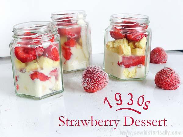 old fashion strawberry dessert